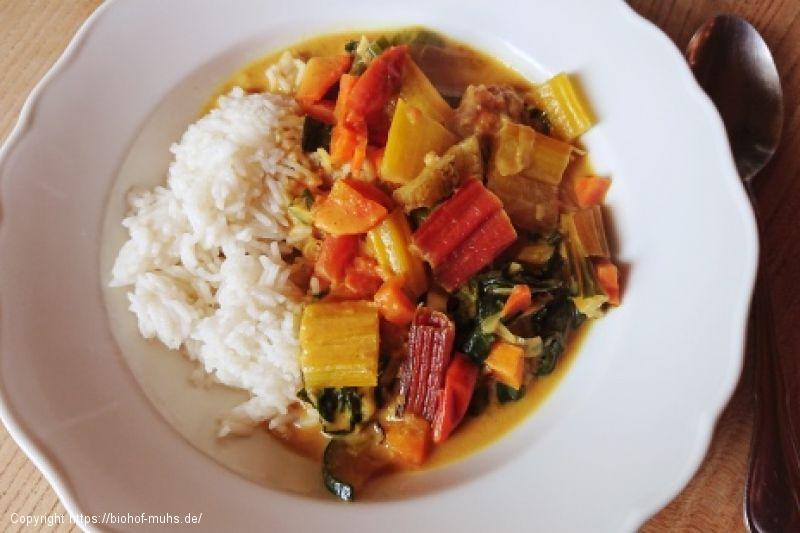 Kleinfleisch-Gemüse-Curry